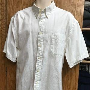 Mens Dockers white 2XL short sleeve shirt